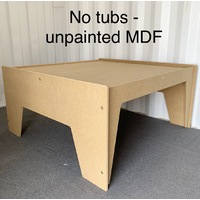 ACTIVITY TABLE (NO TUBS) - UNPAINTED MDF