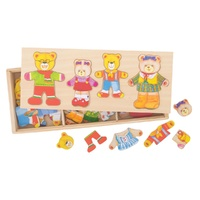 Bear Family Wooden Puzzle 72pc