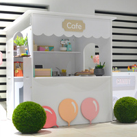 CAFE04-T OUTDOOR CAFE CUBBY HOUSE WITH DRIVE THRU
