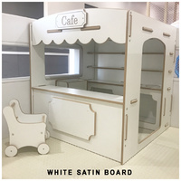 CAFE SHOP CUBBY HOUSE - UNPAINTED WHITE SATIN BOARD