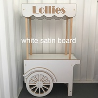CANDY LOLLIE CART - UNPAINTED WHITE SATIN BOARD (PHOTO UNAVAILABLE)