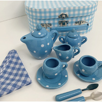 BLUE PORCELAIN TEA SET