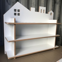 CITY THEMED BOOKCASE - UNPAINTED WHITE SATIN BOARD (PHOTO UNAVAILABLE)
