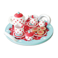 Hearts Wooden Tea Set