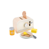 Wooden Pop Up Toaster - White