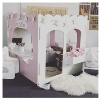 PRINCESS01-M INDOOR SQUARE CUBBY HOUSE - UNPAINTED