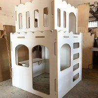PRINCESS02 INDOOR CUBBY HOUSE UNPAINTED WHITE SATIN BOARD