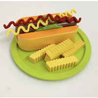 HOT DOG PLAY FOOD SET 11PC