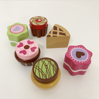 WOODEN CAKE SET OF 6
