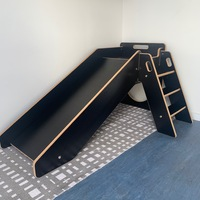 Kids Wooden Slide - Black