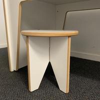 KIDS STOOL - UNPAINTED WHITE SATIN BOARD (NEW DESIGN)