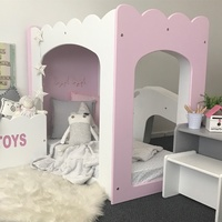 TB02-M PRINCESS TODDLER CUBBY BED - UNPAINTED MDF