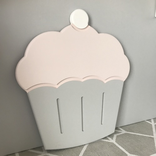CUPCAKE WALL DECORATION - UNPAINTED MDF