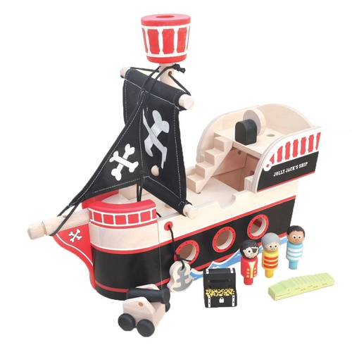 Pirate Ship Wooden Play Set