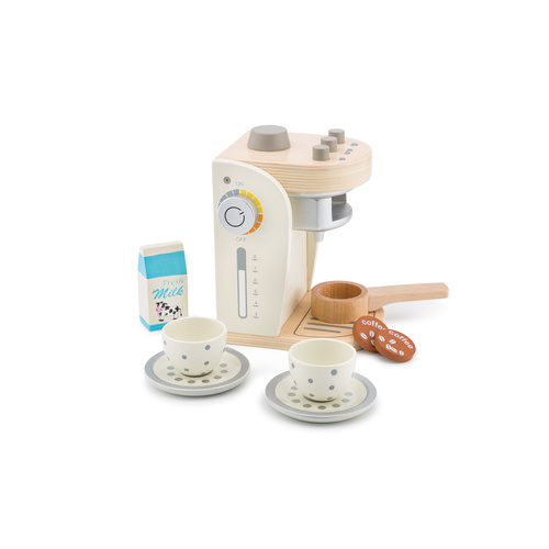 Wooden Play Coffee Machine - White